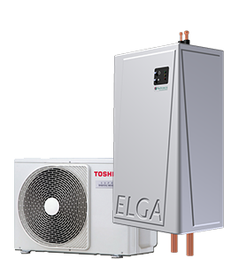 Elga-Hybride-Lucht/warmtepomp